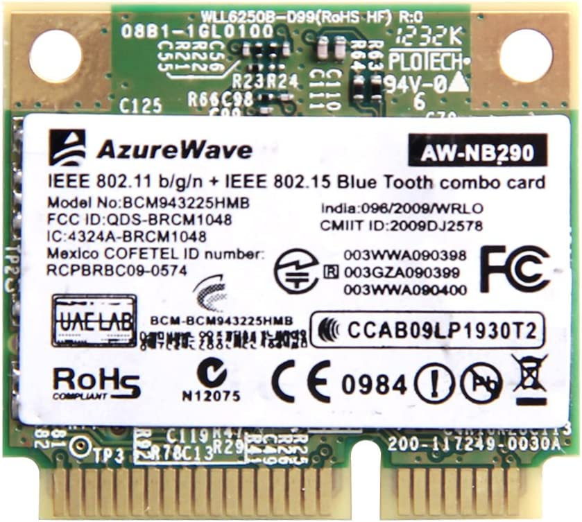 Broadcom Bcm943225hmb Wireless Wifi 300m N Bluetooth 3.0 Bt Mini Half Pci-e PCI E Card 802.11 N