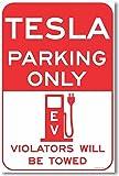 Tesla Parking Only - NEW Electric Vehicle EV Parking Poster