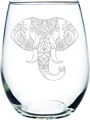 Elephant 15 oz. stemless wine glass