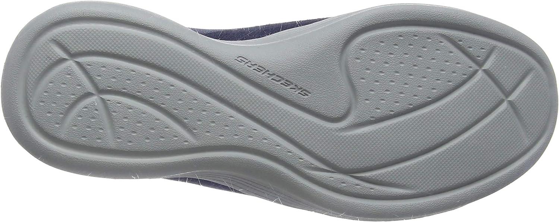 Skechers Damen Envy - Effortlessly Slip On Sneaker Blau Navy Mesh Hot Melt Gray Trim Nvy