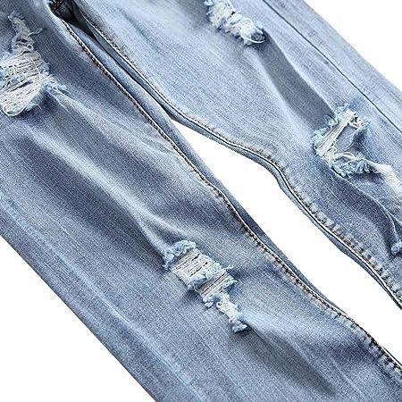 Logobeing Pantalones Vaqueros Otoño Casual Jeans de Hombre ...