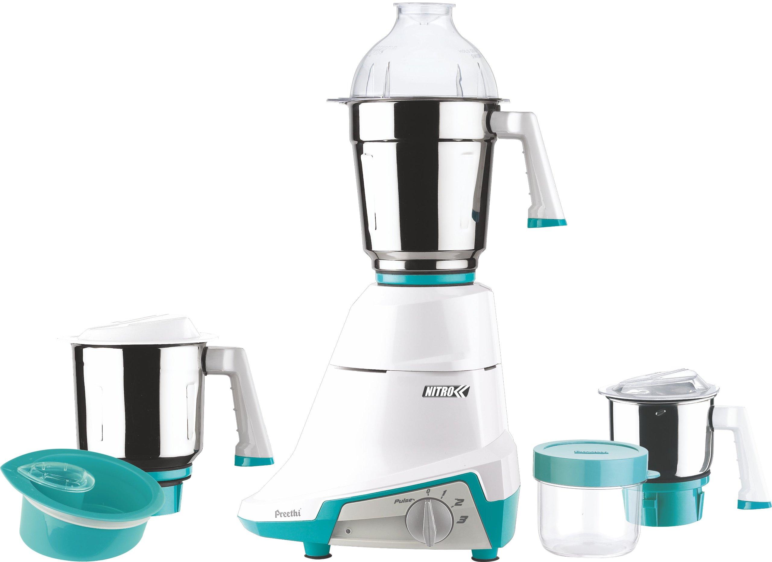 Preethi Nitro 3-Jar Mixer Grinder, 550-Watt