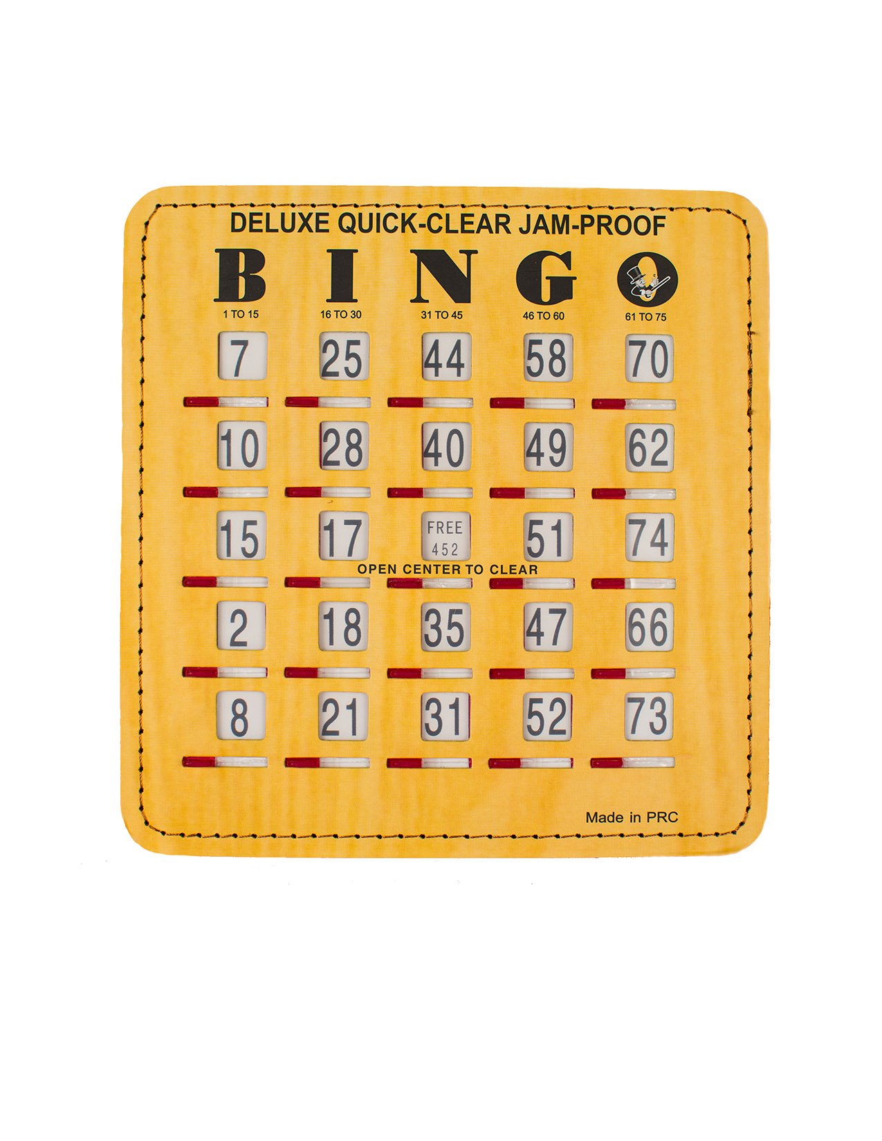 Deluxe Quick Clear Jam Proof Bingo Shutter Cards, 100 count by Mr. Chips, Inc