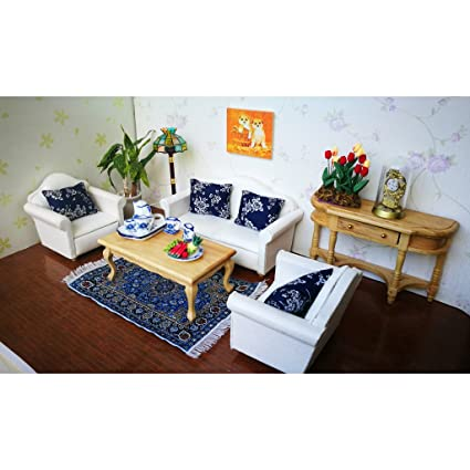 MagiDeal 1//12 Dollhouse Miniature Retro Furniture Set Living Room Decoration