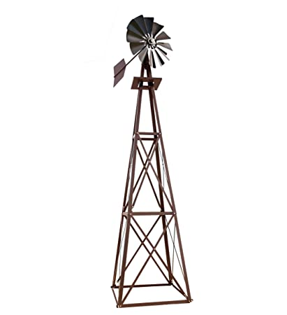 Outdoor Water Solutions Large Bronze Powder Coated Backyard Windmill
