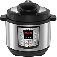 Instant Pot IP-LUX60 V3 Programmable Electric Pressure Cooker, 6 quarts, 1000W, Black and Stainless Steel