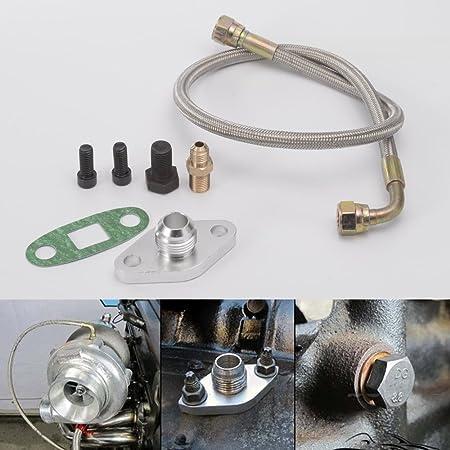 epman tk-wxb08 aceite alimentación línea Kit Brida Kit único Turbo: Amazon.es: Coche y moto