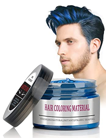 Amazon.com: BMK Blue Color Hair Wax Matte Hairstyle Pomades ...