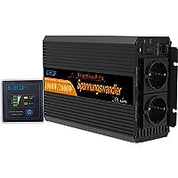 EDECOA 1000w Omvormer 12v naar 230v Zuivere Sinus 2000w Piekvermogen met Afstandsbediening, EU Stopcontact en USB - Auto…
