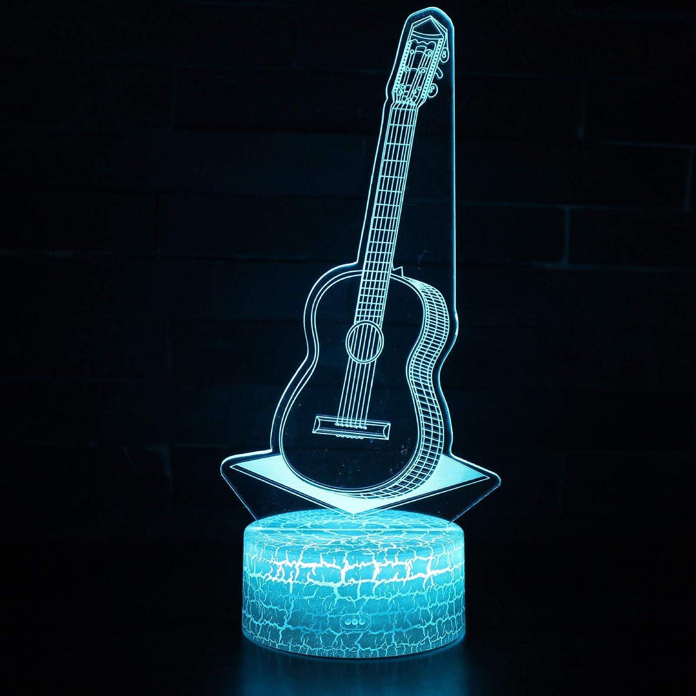 Vitila Guitarra Eléctrica 3D Led Ilusión Luz Noche Luz Luz Mesita ...
