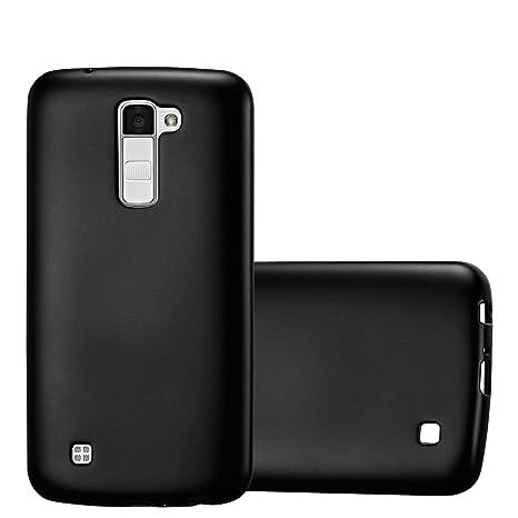 Cadorabo Funda para LG K10 2016 en Metallic Negro – Cubierta Proteccíon de Silicona TPU Delgada e Flexible con Antichoque – Gel Case Cover Carcasa ...