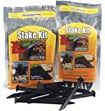Master Mark Plastics 12109 ABS Plastic Stake Anchors For Landscape Edging, 10 Inch 9 Pack