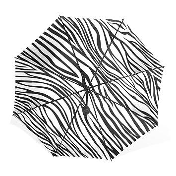 Mi Diario negro y blanco rayas moda paraguas sol lluvia ligero plegable paraguas para al aire
