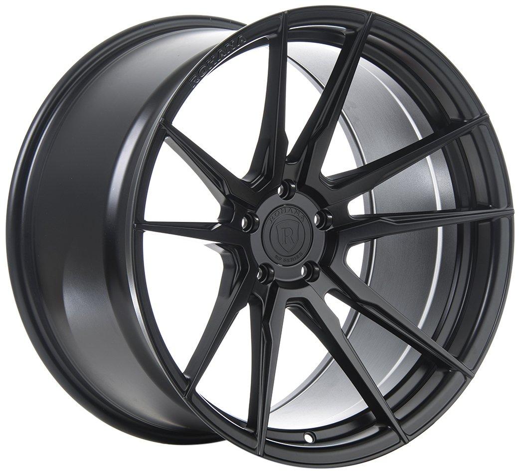 Rohana Wheels RF2 Black Wheel (20x11''/5x115mm, +15mm offset)