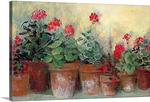 Kathleen's Geraniums Canvas Wall Art Print