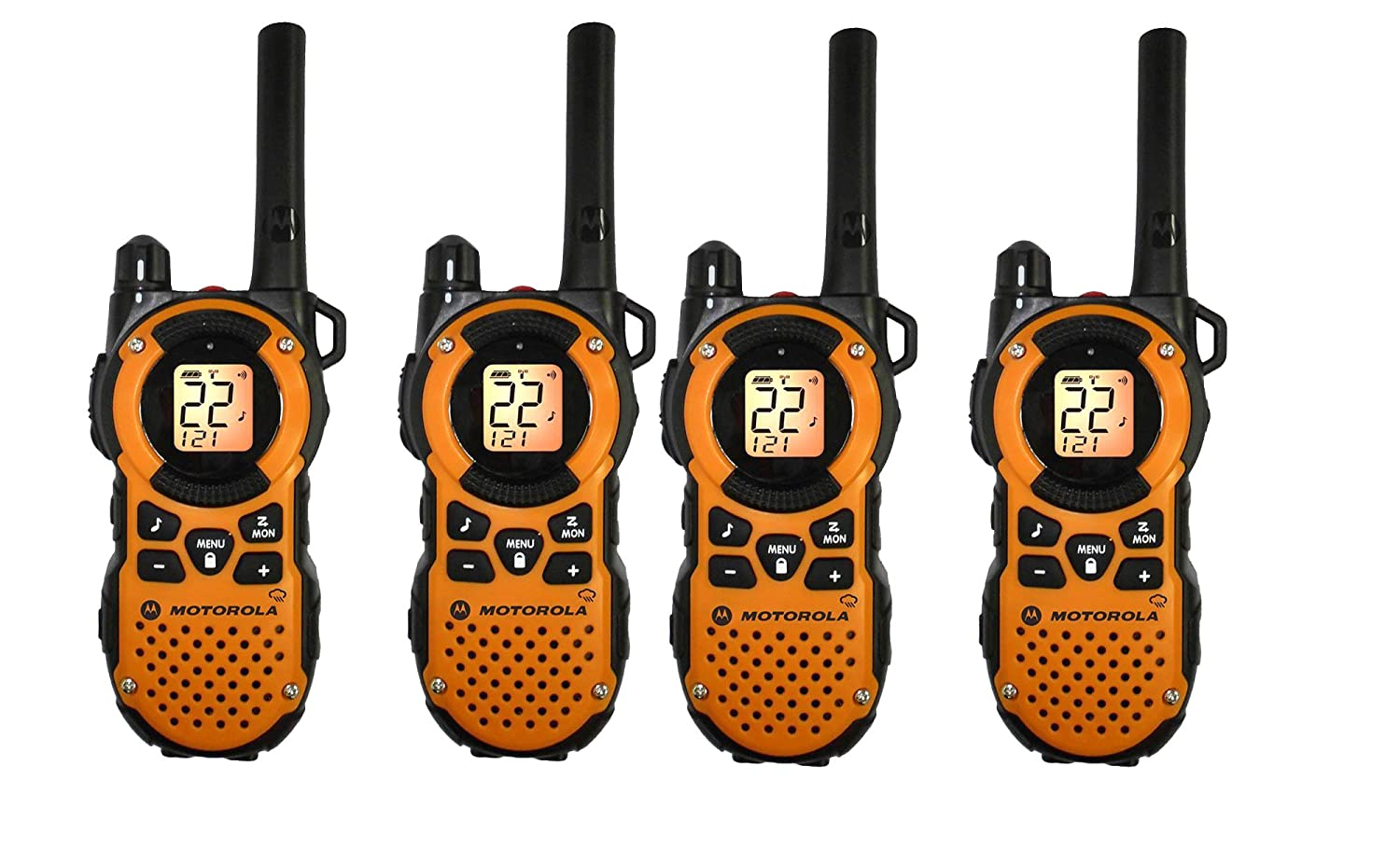 Midland Consumer Radio GXT1030VP4 36-Mile 50-Channel GMRS Two-Way Radio (Black/Yellow)