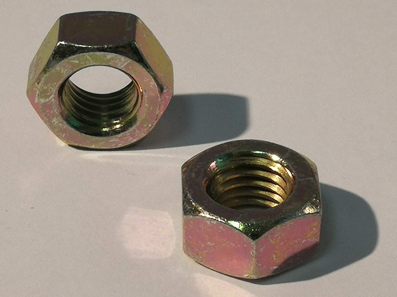 Stahl 6.0 gelb verzinkt DIN 934 Verzinkter Stahl, M12 25 St/ück M12 Sechskantmutter