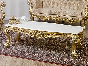 Schon Simone Guarracino Tischchen Wohnzimmer Boutique Französisch Barock Stil  Eigenschaften Blattgold Marmor Farbe Creme