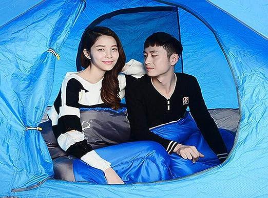 Amazon.com : FGSJEJ Four Seasons Sleeping Bag Outdoor Adult Travel Camping Sleeping Bag Splicable Double Sleeping Bag with Compression Bag (Color : Green, ...