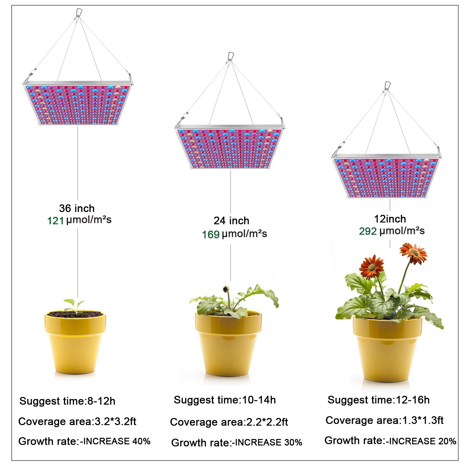 LED Grow Light for Indoor Plants,YGROW Upgraded 75W Growing Lamp Light Bulbs with Exclusive Full Spectrum for Greenhouse Hydroponic Plants from Seeding to Harvest by YGROW (Image #3)