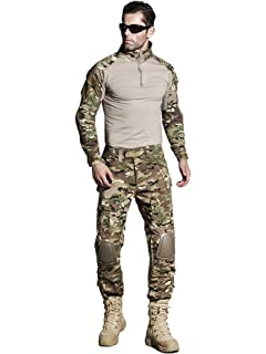 1a85ab8e5c909 SINAIRSOFT US Army Uniform Shirt Pants with Knee Pads Tactical Combat  Airsoft Hunting Apparel Camo BDU