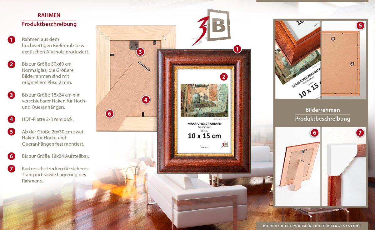 Geschenkbox - Set 10 Stk. Bilderrahmen Holzrahmen - 10x15 cm ...