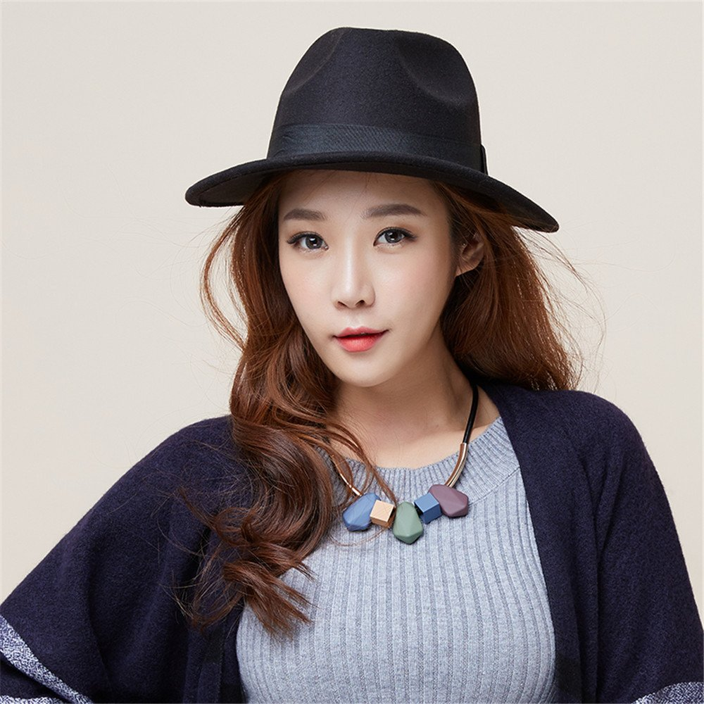 Amazon.com  BTBTAV Women s hat hat hat Dress Black en Courtesy Fisherman  Winter Jazz hat Brim 7c0c644209e