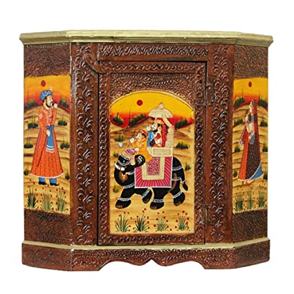 Beau Apkamart Hand Crafted Wooden Almirah Cabinet   30 Inch Height   Showpiece U0026  Utility Article For