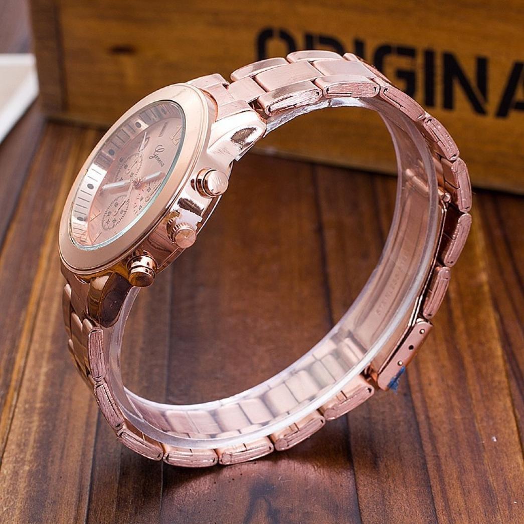 ¡Liquidación!Sonnena - Reloj de pulsera de mujer de acero inoxidable, reloj clásico, de cristal, analógico, de cuarzo. Éxito de ventas en 2018.