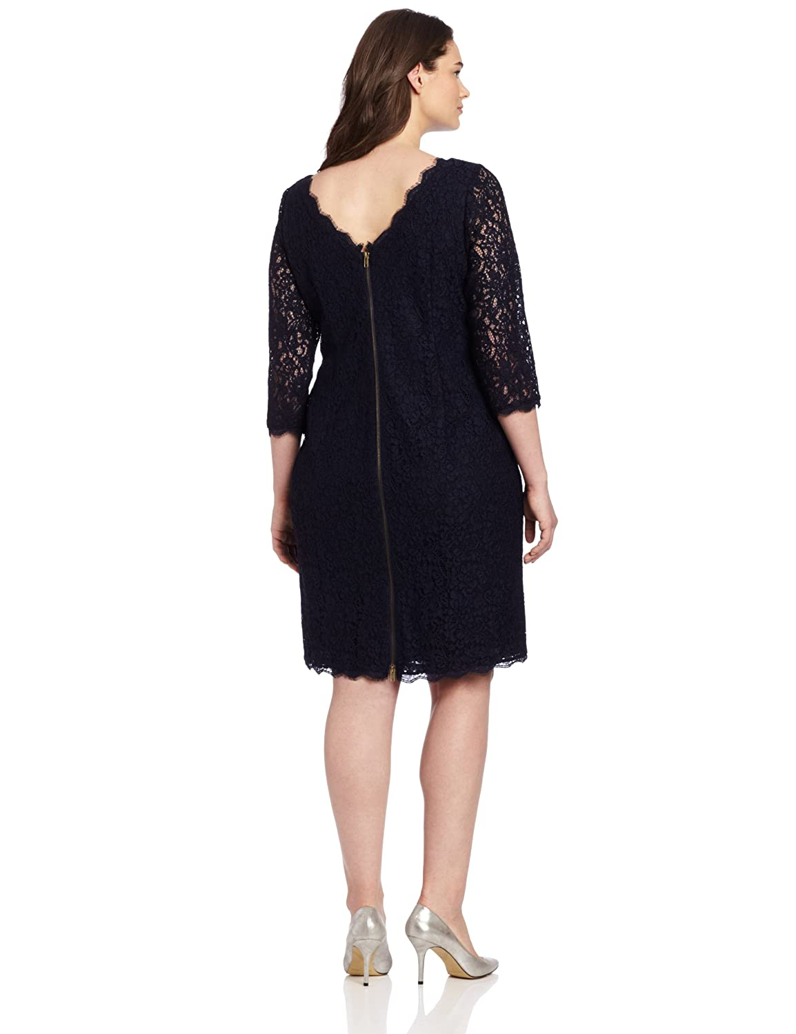 Adrianna Papell Women's Plus-Size Lace Dress