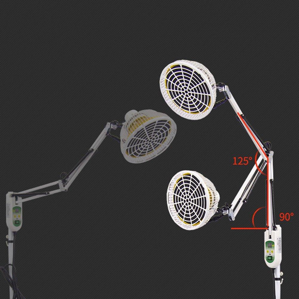 ZHIRONG 250W TDP Far Heat Lamp Electromagnetic Therapy Fisioterapia Luz mineral Aparato de placa Ajuste de tiempo Temperatura ajustable: Amazon.es: Hogar