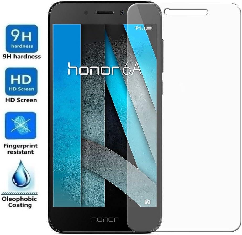 REY Protector de Pantalla para Huawei Honor 6A, Cristal Vidrio ...