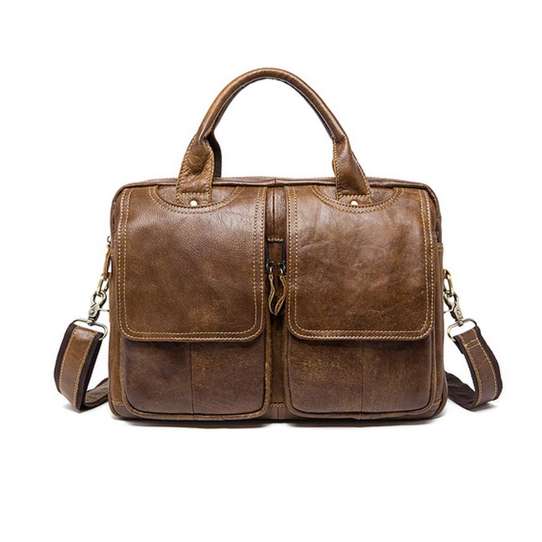 Messenger Shoulder Bag Leather Bags Briefcase Laptop 14 Tote Crossbody Bags