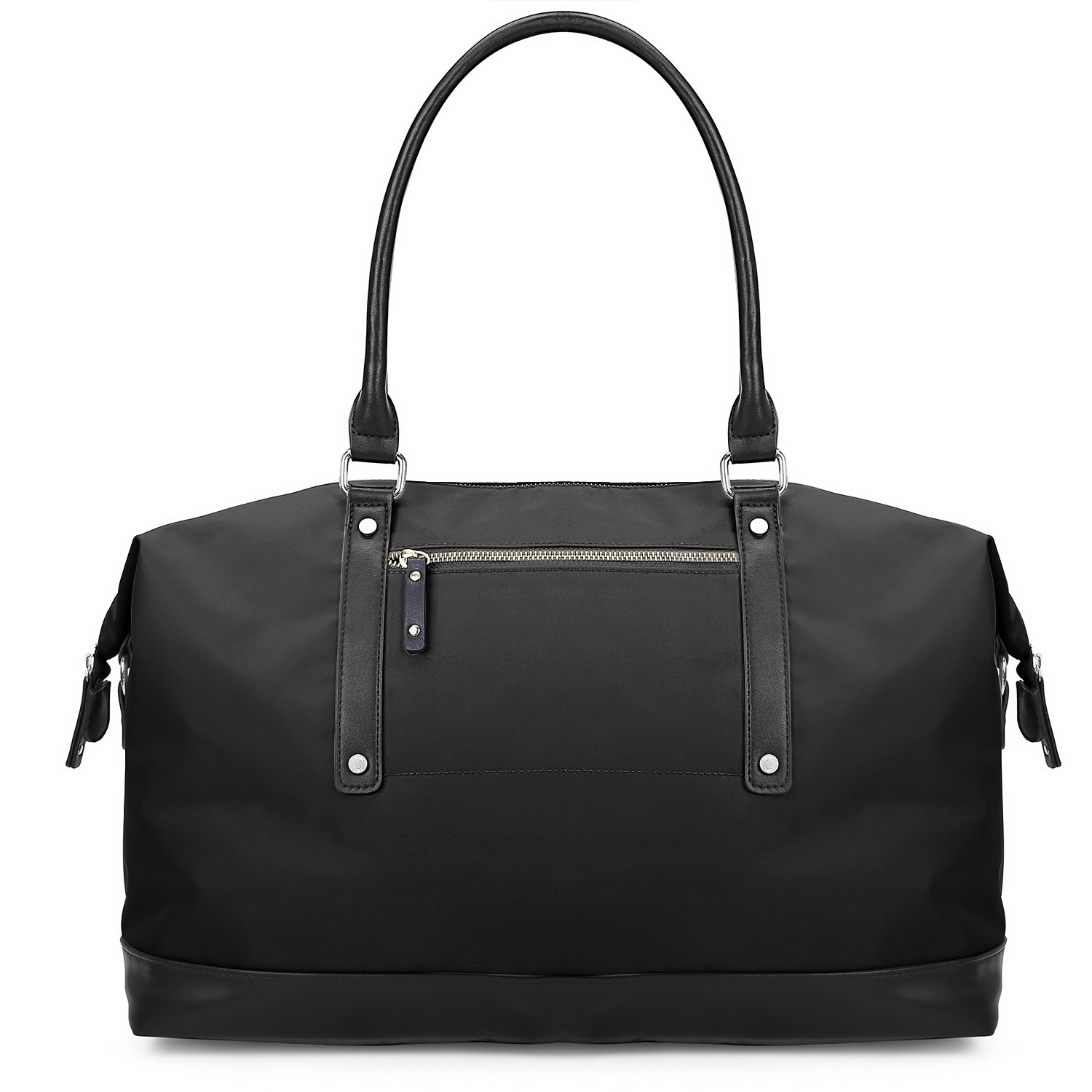 ECOSUSI Duffel Bag Weekender Overnight Bag Large Travel Tote Shoulder Bag with Trolley Sleeve for Men & Women, Black by ECOSUSI
