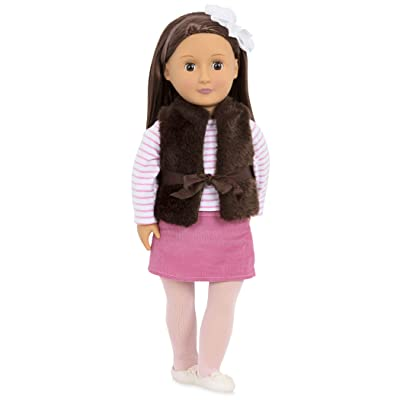 "Our Generation Doll by Battat - Sienna 18"" Regular Non-Posable Fashion Doll- for Age 3 years & Up: Toys & Games"