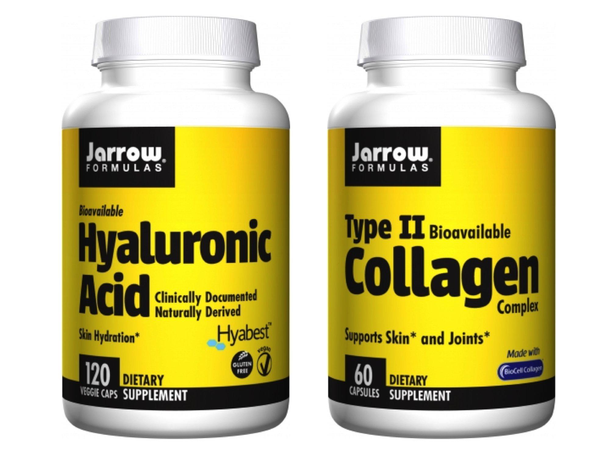 Jarrow Formulas Supplement Bundle (2 Items) – Hyaluronic Acid + Type II Collagen