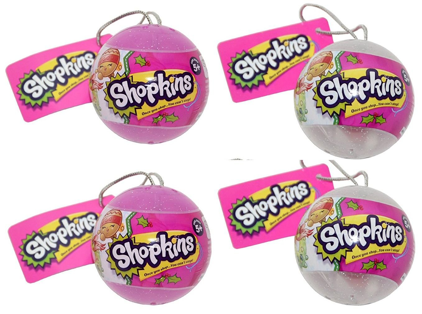 Shopkins Holiday Ornaments 2016 Surprise 4 Pack