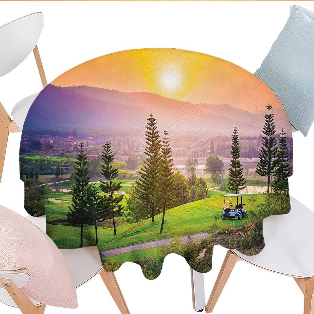 Amazon Com Longbuyer Nature Oval Tablecloth Golf Resort
