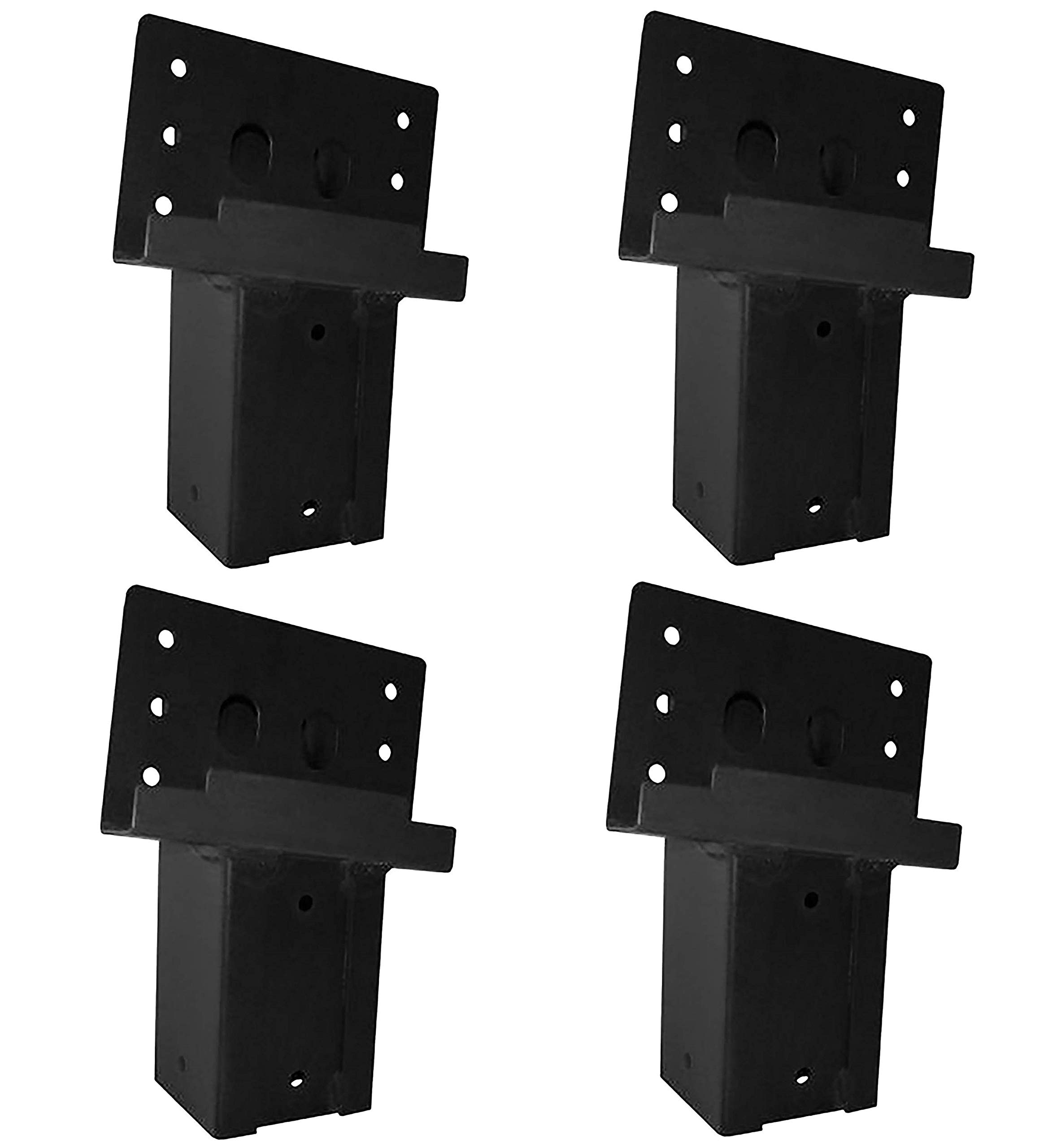 Elevators 4x4 Brackets for Deer Blinds, Playhouses, Swing Sets, Tree Houses. Made in The USA with Premium Construction Grade Steel. (Set of 4) (4 X Pack of 4)