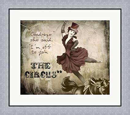 Amazon.com: Join The Circus by Color Bakery Framed Art Print Wall ...