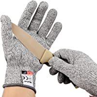 NoCut® Cut Resistant Gloves - Breathable Airsoft,High Performance Level 5 Protection, Food Grade. 3 Year Warranty (Medium)