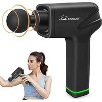 Snailax Massage Gun, Portable Handheld Silent Cordless Ultra-Compact Versatile Massager Gun for Muscles, Back, Foot…