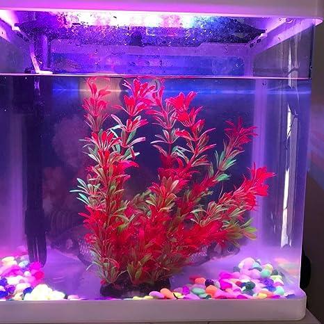 Viviving - Plantas artificiales de acuario, 2 unidades, 22,8 cm de alto, plantas de plástico para peceras: Amazon.es: Productos para mascotas