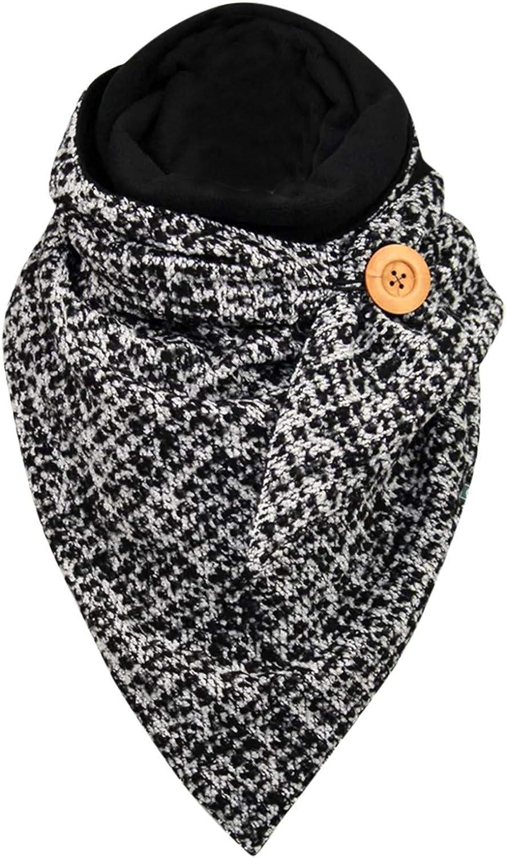 Moda Sciarpa Scaldacollo Per Le Donne Sciarpa Calda Invernale Delle Donne Sciarpa Multiuso con fibbia con cappuccio