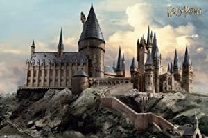 Harry Potter - Movie Poster Print (Hogwarts by Day) (Size: 36 inches x 24 inches)
