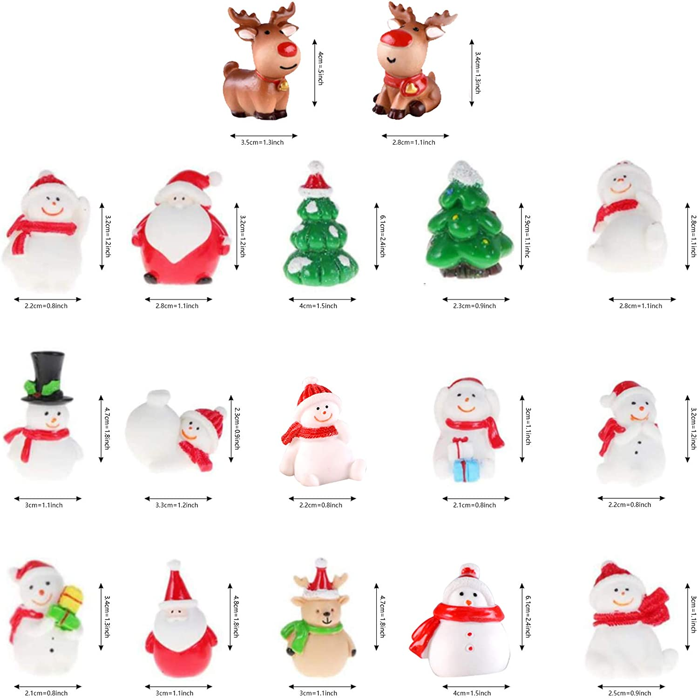 17 PCS Adorno de Navidad en Miniatura,Mu/ñeco de Nieve Mini Decoraci/ón,De figurillas de Estilo de Navidad,Adornos de /árboles de Navidad en Miniatura,Mu/ñeco de nieve de resina
