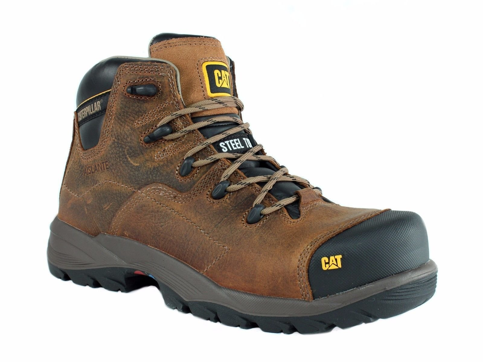 Caterpillar COOLANT CHI ST Steel Toe Men's Work Casual Brown Leather Boot