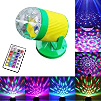 Citra Rotating Disco Ball Laser Light, Party Lights Party Lights with Remote Control DJ Lighting, laser lights,3W Disco Ball, Strobe Lights 7 Modes Stage Par Light
