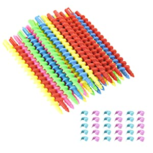 Beautyflier Styling Plastic Spiral Hair Perm Rod Random Colors (Medium (30 PCS))