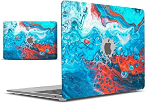 IBENZER MacBook Air 13 Inch Case 2020 2019 2018 New Version A1932, Hard Shell Case Cover for Apple Mac Air 13 Retina with Touch ID, Blue Bubble, MAD-T13BLBB